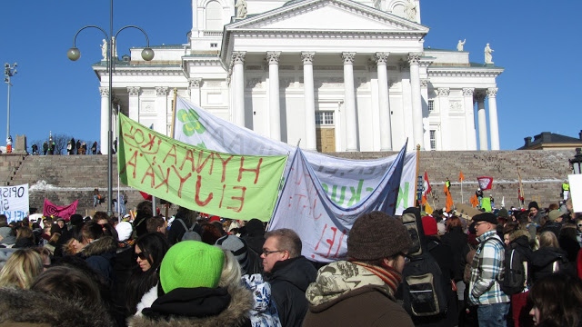 Suurmielenosoitus: Näpit irti opintotuesta! - 20.3.2013, Helsinki